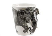 Picture of Elephant Handmade 8oz Coffee Mug Grey