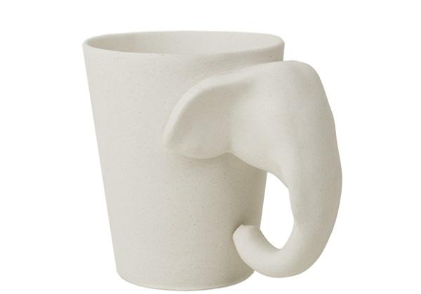 Picture of Elephant Handmade Ceramic 8oz Coffee Mug Unpainted