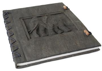 Picture of Elephant Handmade A4 Journal Ash Plain