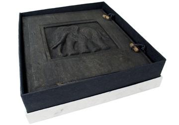 Picture of Elephant Handmade Large Photo Album Ash