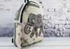 Picture of Elephant Print on Canvas Medium Backpack White
