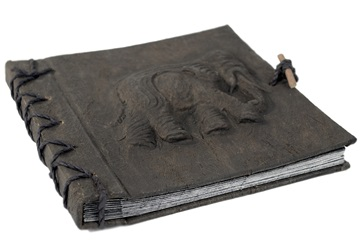 Picture of Elephant Handmade Mini Photo Album Ash