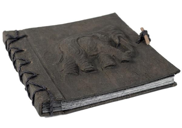 Picture of Elephant Handmade Mini Photo Album Ash