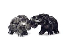 Picture of Elephant Handmade Mini Cruet Set Gray
