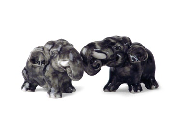 Picture of Elephant Handmade Mini Cruet Set Grey