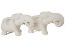 Picture of Elephant Handmade Unpainted Ceramics Mini Unpainted Cruet Set Unglazed
