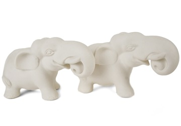 Picture of Elephant Handmade Unpainted Ceramics Mini Unpainted Cruet Set Unglazed