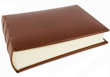 Picture of Empire Small Chestnut Handmade Recycled Leather Hardbound Photo Album
