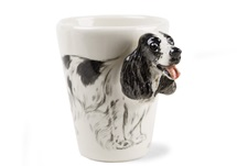 Picture of English Cocker Spaniel Handmade 8oz Coffee Mug Black and White