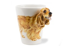Picture of English Cocker Spaniel Handmade 8oz Coffee Mug Gold