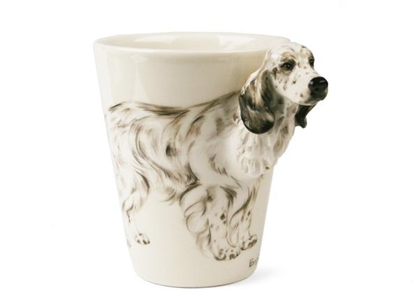 Picture of English Setter Handmade 8oz Coffee Mug Tri Color