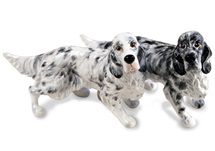 Picture of English Setter Handmade Mini Cruet Set Tri Color