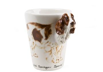 Picture of English Springer Spaniel Handmade 8oz Coffee Mug Liver and White