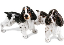 Picture of English Springer Spaniel Handmade Mini Cruet Set Liver And White