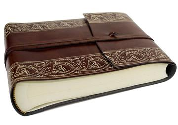Picture of Equine Handmade Recycled Leather Wrap Small Photo Album Chestnut