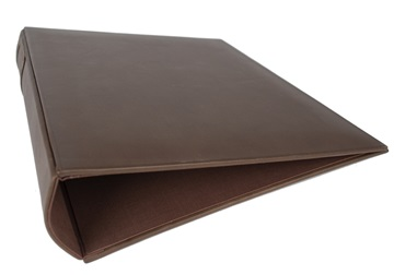 Picture of Esecutivo Handmade Lever arch files Large Ring Binder Leather Chestnut