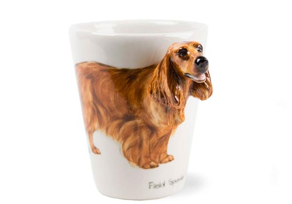 Picture of Field Spaniel Handmade 8oz Coffee Mug Tan