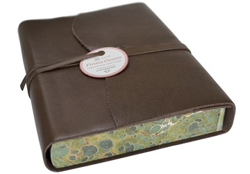 Picture of Firenze Classico Handmade Italian Leather Wrap A5 Journal Chocolate Plain