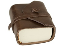 Picture of Firenze Classico Handmade Italian Leather Wrap Tiny Journal Chocolate Plain