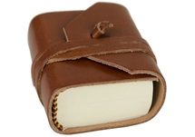 Picture of Firenze Classico Handmade Italian Leather Wrap Tiny Journal Tuscan Sun Plain