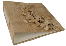 Picture of Flaura Handmade Lever Arch A4 50mm Ring Binder Rustic Bark lined