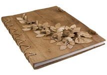 Picture of Flaura Handmade A4 Journal Natural Plain