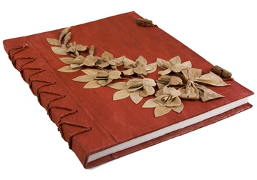 Picture of Flaura Handmade A4 Journal Red Plain
