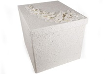 Picture of Flaura Handmade Extra Large Keepsake Box White
