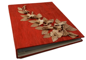 Picture of Flaura Handmade Large Post Bound Photo Album Red Bark
