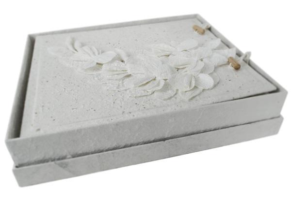 Picture of Flaura Handmade Large Photo Album White