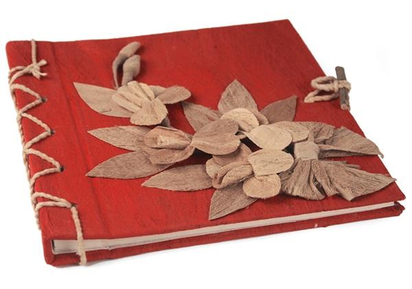Picture of Flaura Handmade Mini Photo Album Red
