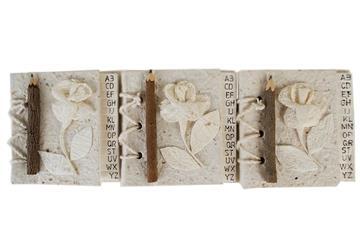Picture of Flaura Mini White Handmade Hand Bound Address Book