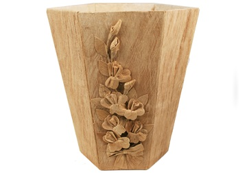 Picture of Flaura Handmade Regular Waste Paper Basket Bark