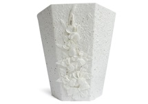 Picture of Flaura Handmade Regular Waste Paper Basket White