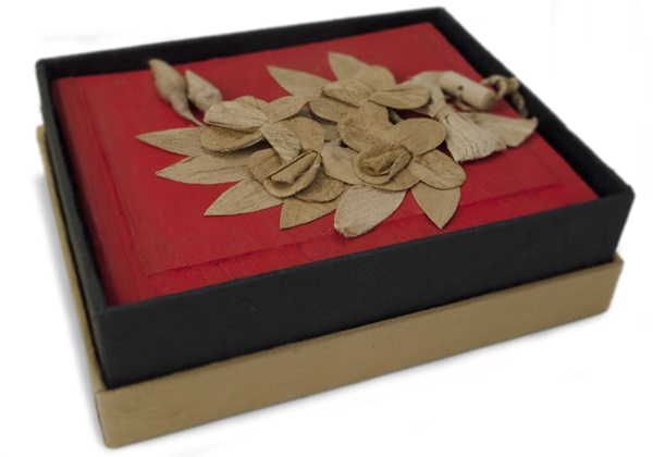 Picture of Flaura Handmade Small Photo Album Red