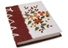 Picture of Floral Petal Handmade A5 Stocking filler Red Flower Plain