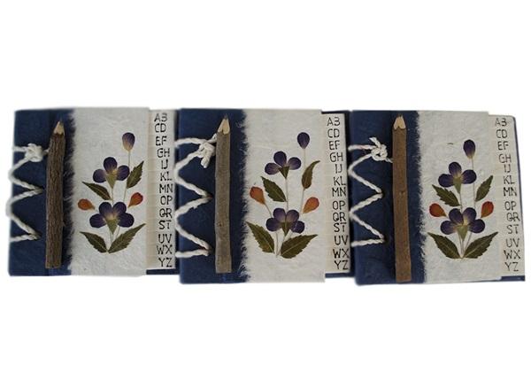 Picture of Floral Petal Handmade Hand Bound Mini Stocking filler Blue Flower