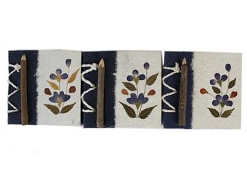 Picture of Floral Petal Handmade Mini Stocking filler Blue Flower Plain