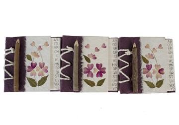 Picture of Floral Petal Handmade Hand Bound Mini Stocking filler Violet Flower