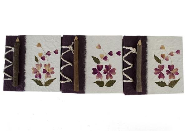 Picture of Floral Petal Handmade Mini Stocking filler Violet Flower Plain
