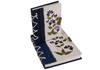 Picture of Floral Petal Handmade A6 Stocking filler Blue Flower Plain