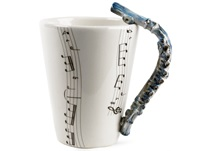Picture of Flute 8oz Blue Handmade Coffee Mug