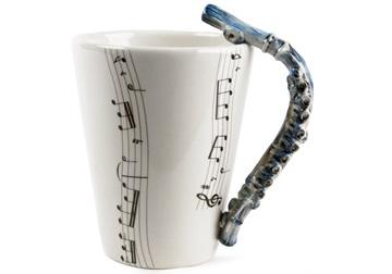 Picture of Flute Handmade 8oz Coffee Mug Blue