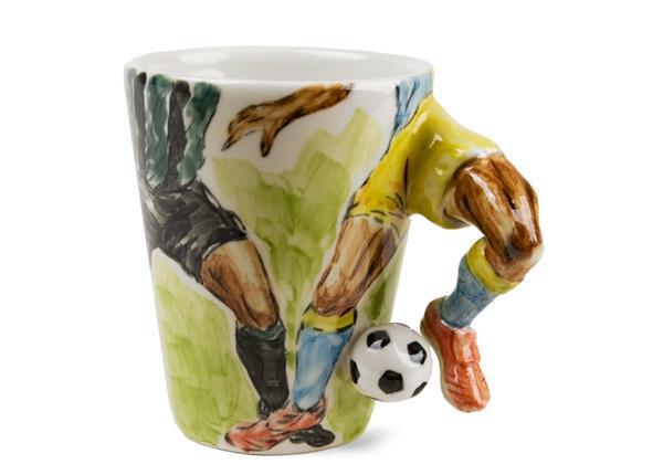 Picture of Football Handmade 8oz Coffee Mug Green