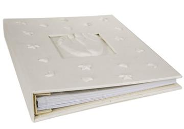 Picture of Footprint Handmade Large Photo Album White
