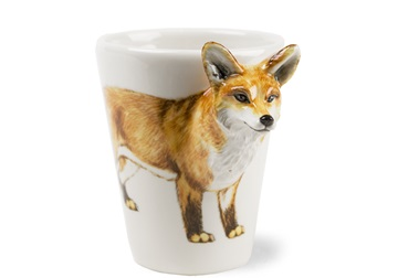 Picture of Fox 8oz Brown Handmade Coffee Mug