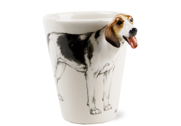 Picture of Foxhound Handmade 8oz Coffee Mug Black And Tan