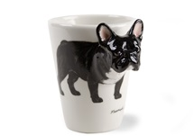 Picture of French Bulldog Handmade 8oz Coffee Mug Black