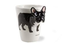 Picture of French Bulldog Handmade 8oz Coffee Mug Black