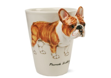 Picture of French Bulldog Handmade 8oz Coffee Mug Fawn